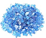 Mr. Fireglass Recycled Fire Glass for Natural or Propane Fire Pit Fireplace Gas Log Sets, 10 Pounds, Turquoise