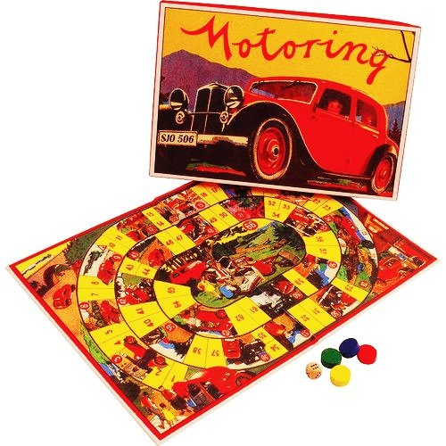 Repro Stand (MOTORING board game retro/vtg 1940s repro car auto automobile touring NEW in box For Ages 6+)