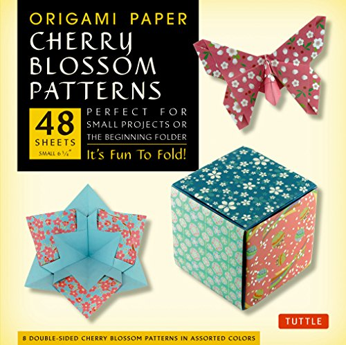 """Origami Paper- Cherry Blossom Prints- Small 6 3/4"""" 48 sheets: Tuttle Origami Paper: High-Quality Origami Sheets Printed with 8 Different Patterns: Instructions for 5 Projects Included"""