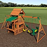 Backyard Discovery Saratoga All Cedar Wood Playset Swing Set Your