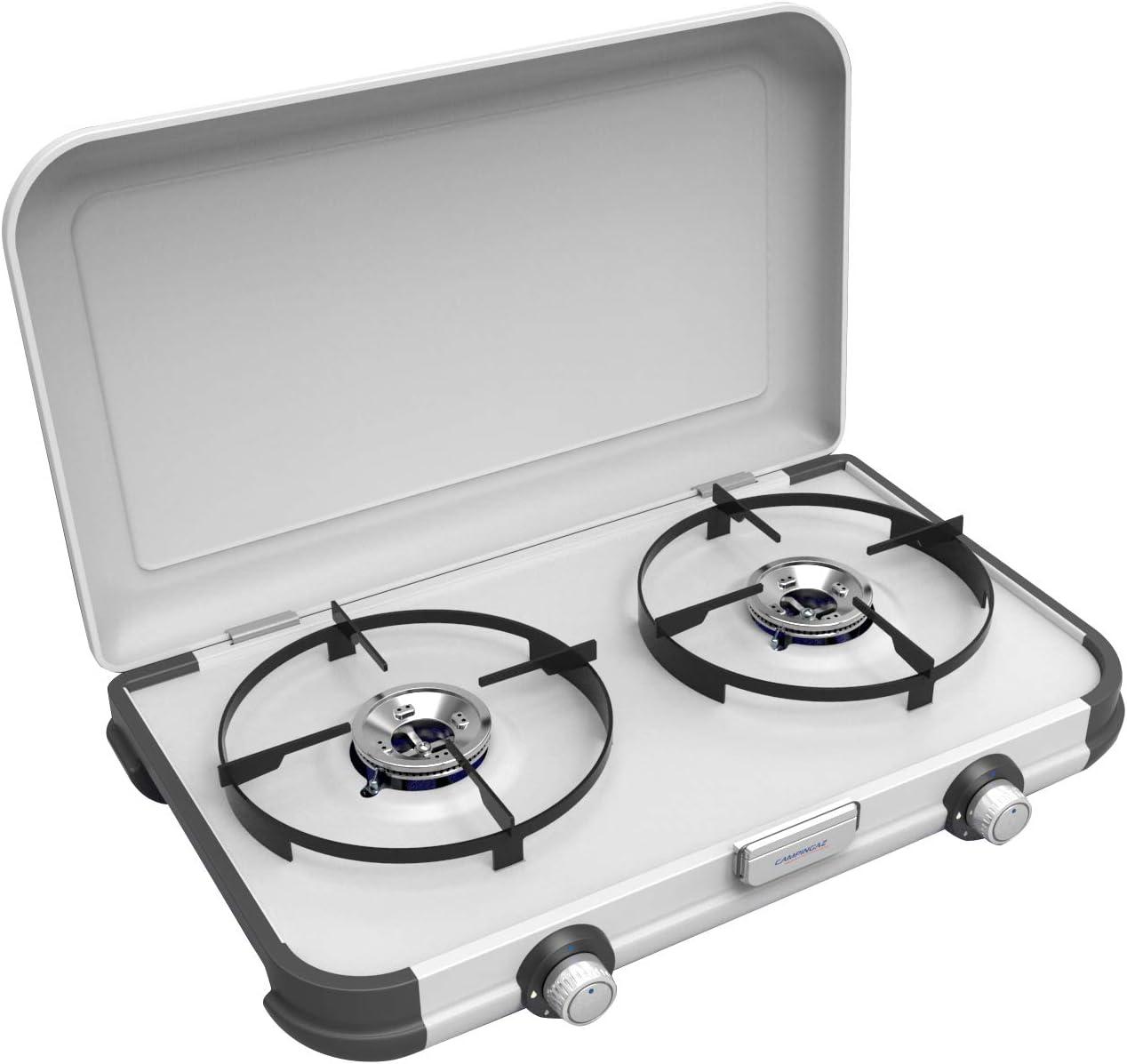 Campingaz, cocina de gas portátil con dos quemadores, parrilla al aire libre