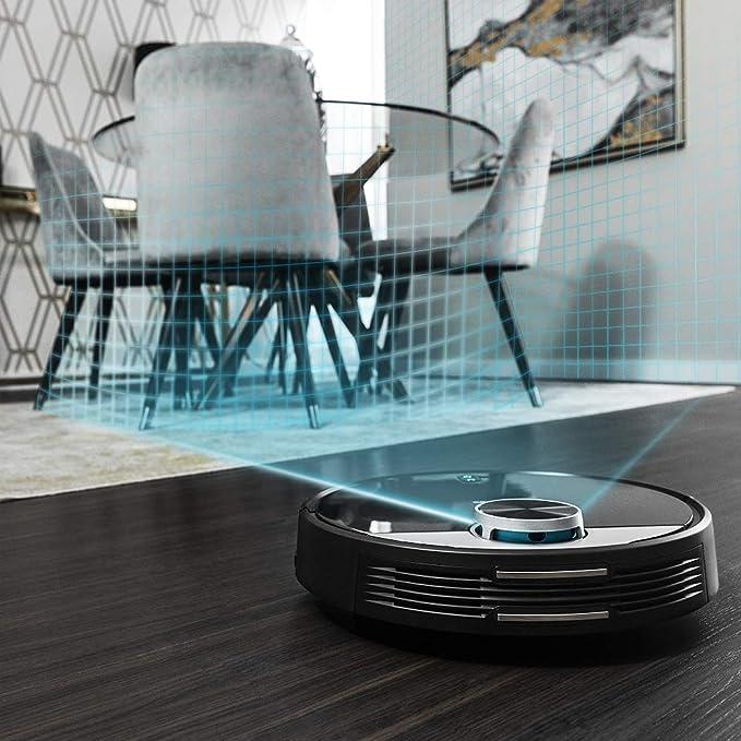Cecotec Robot Aspirador Conga Serie 3290 Titanium. 2300 Pa, Gestión y Edición de Habitaciones, App con hasta 5 mapas, Aspira, Barre, Friega y Pasa la ...