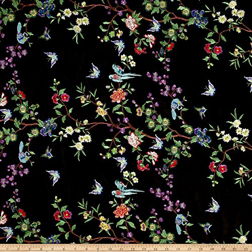 TELIO Eeva Embroidered Chiffon Fabric by The Yard, Multi (Embroidered Fabric)