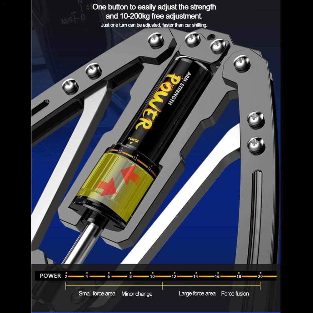 Biegehantel Fitnessger/äte Gymnastikstange Einstellbarer Hydraulikdruck 22-440 Lbs Armmuskeltrainingsger/ät f/ür Arm Peralng Double Spring Armtrainer Power Twister Brust Unterarm Krafttraining