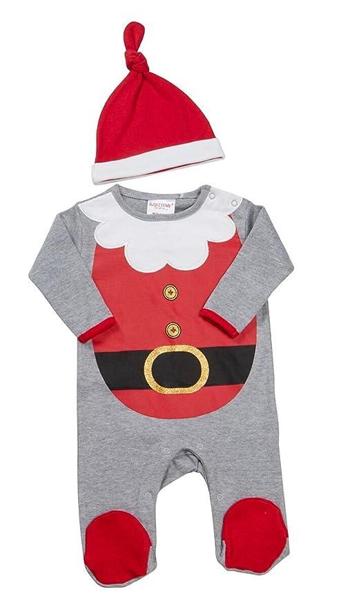 81ca065091 Baby  s 1st Navidad Papá Noel algodón pijama y gorro de bebé ciudad Talla