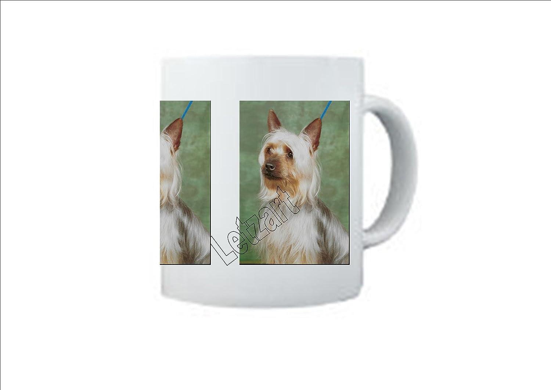Blanco taza de cerámica de remo parches con tacto sedoso de perro Airedale Terrier: Amazon.es: Hogar
