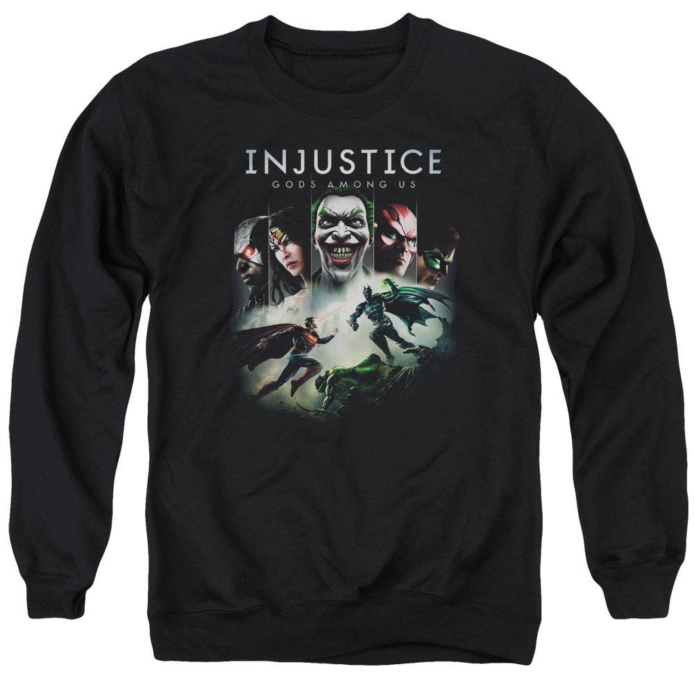 Injustice Gods Among Us Herren Sweatshirt Opaque Schwarz Schwarz