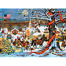 Buffalo Games - Charles Wysocki - Small Town Christmas - 1000 Piece Jigsaw Puzzle