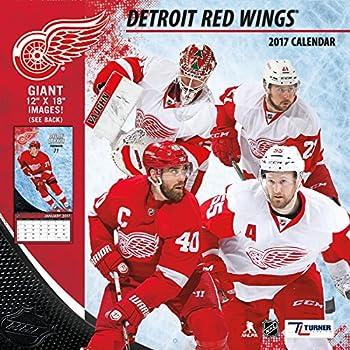 bc37d6ad7 Turner Licensing Sport 2017 Detroit Red Wings Team Wall Calendar, 12