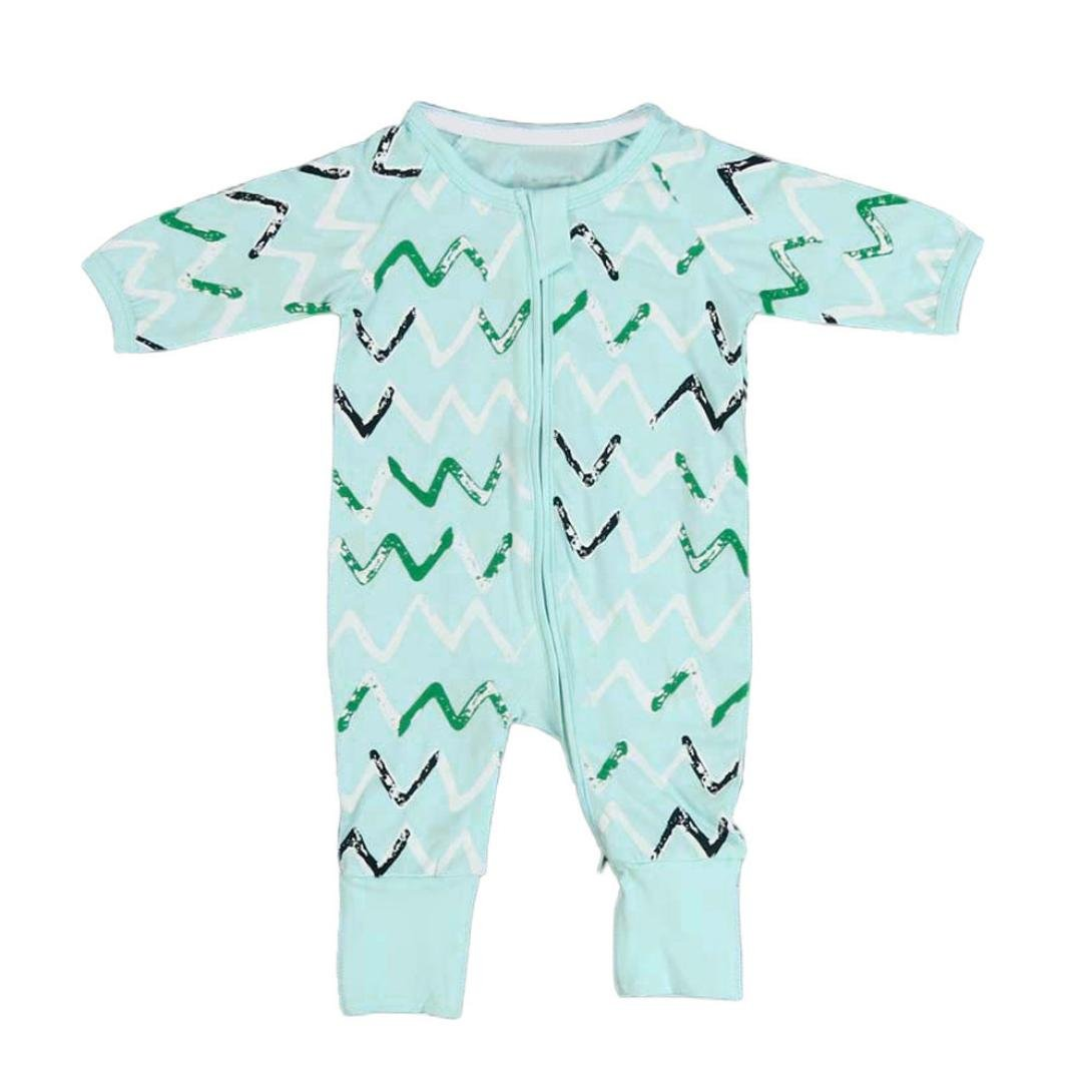 468a83d50 Igemy Newborn Baby Boys Girls Floral Print Zipper Long Sleeve Romper ...