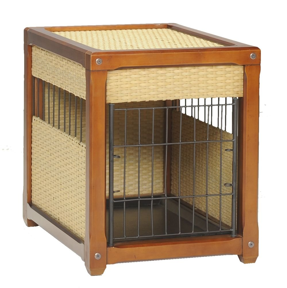 ... Craftsman Styled Dog Home Has A Unique Five Way Door Design. The Door  Opens Out, In, Left, Right, Or Removes Completely For Your Convenience.  This Crate ...