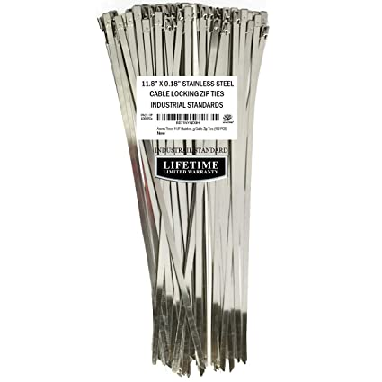 2db87c7b0c33 Amazon.com: Aroma Trees 100 pcs Metal Zip Ties 11.8