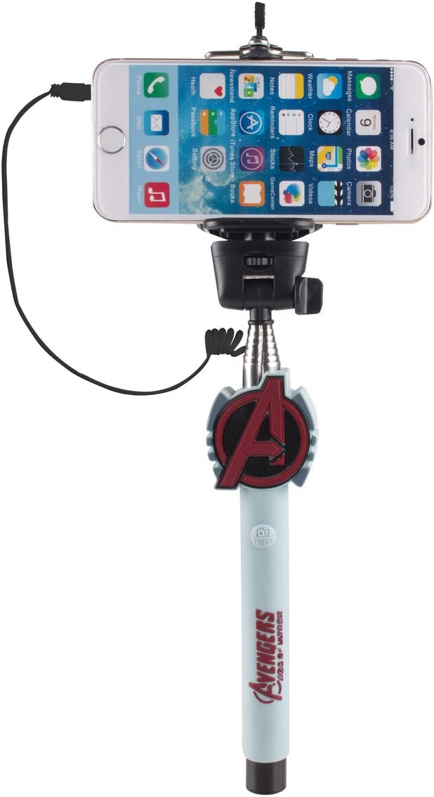 Marvel Avengers Selfie Stick with Aux-in Wired Shutter Release