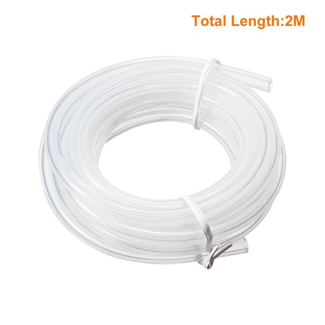 Tuyau de tuyau de pompe /à air de tube translucide de silicone de 2mm x 5mm 2M de long