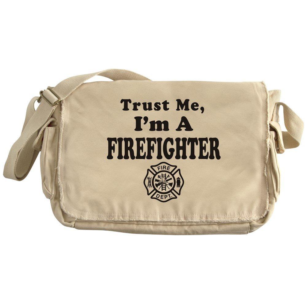 Royal Lion Khaki Messenger Bag Trust Me Im A Fireman Firefighter