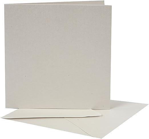 plata Tarjetas y sobres nacarados medida sobre 13x13 cm 10set medida tarjeta 12,5x12,5 cm