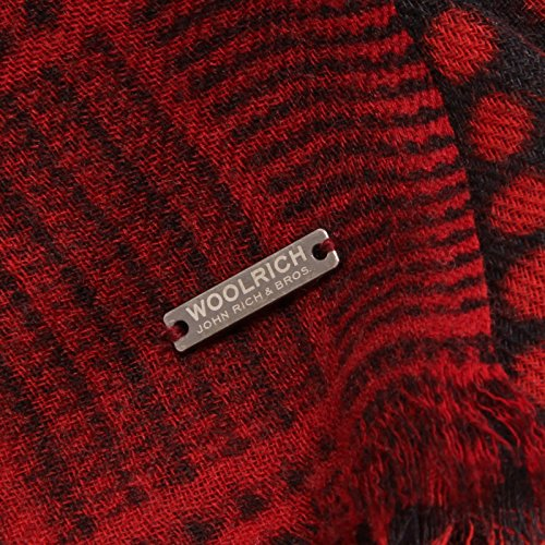 Sciarpa Donna Wool Woman Red Rosso Woolrich 1093w Scarf Z5RqRvB