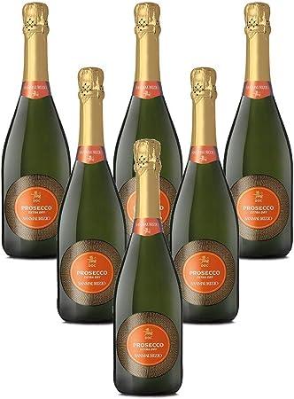 Vino espumoso italiano Prosecco DOC Extra Dry San Maurizio Spumante secco (6 botellas 75 cl.)