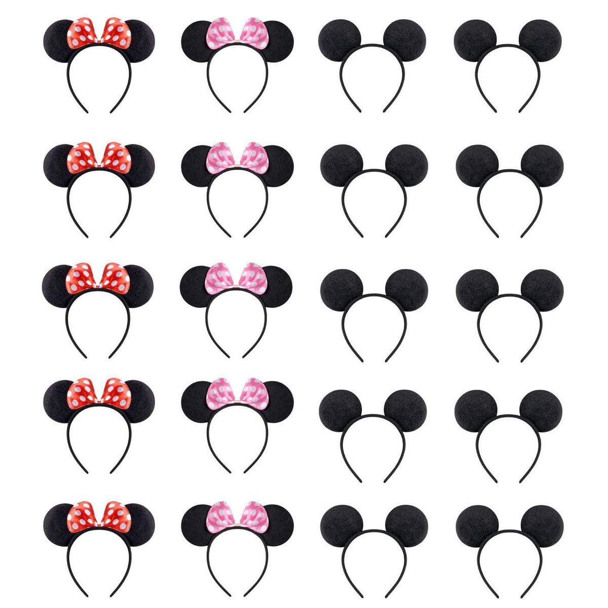 NEWTGAN 20 PCS Mouse Ears for Birthday Party Theme Park Costume Play Celebration for Boys and Girls …
