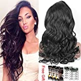 Sunwell Brazilian Virgin Hair Deep Body Wave Lace Front Wig with Baby Hair for Black Women Natural Black 18 inch