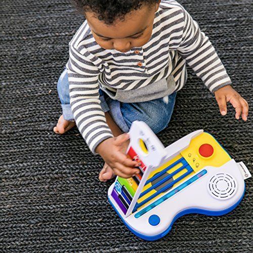 615RAiic iL - Baby Einstein Flip & Riff Keytar Musical Guitar and Piano Toddler Toy with Lights and Melodies, Ages 12 months and up