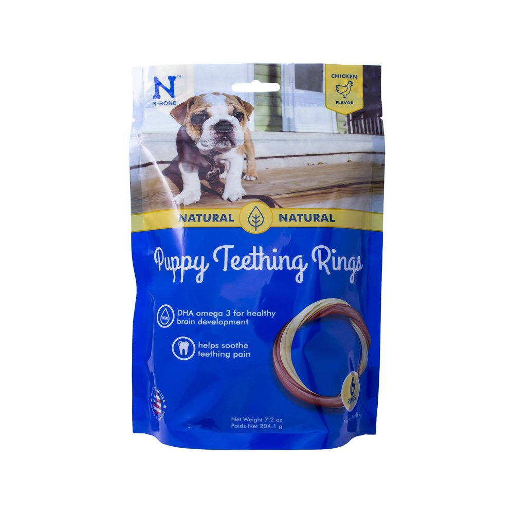 N-Bone Puppy Teething Ring Chicken Flavor
