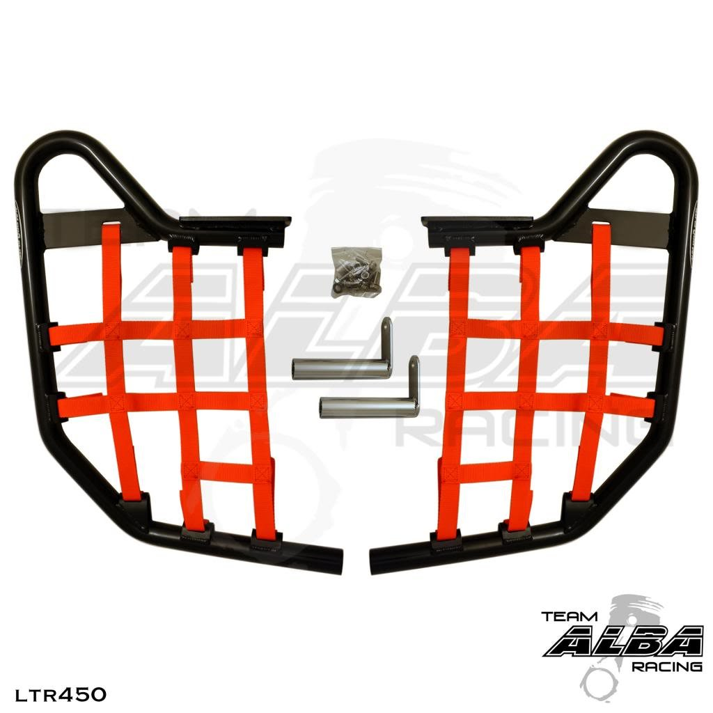 Suzuki LTR 450 QUADRACER (2006-2009) Standard Nerf Bars Black w/Red Net
