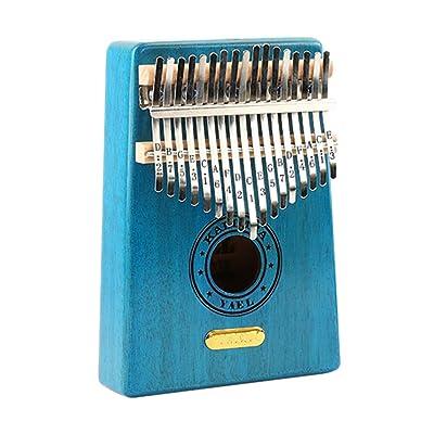 BeesClover Unisex 17 Tune Kalimba Finger Piano Beginner Portable Instrument Gift Toy 17 Tone 3#: Clothing