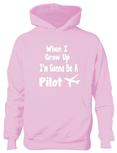 When I Grow Up Be Astronaut Hoodie Girls Boys Kids Funny GiftAge 5-13 Years