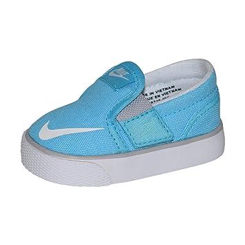 Nike Toki Slipon Canvas Shoe TDV (Clearwater/White-Wolf Grey, 5C)