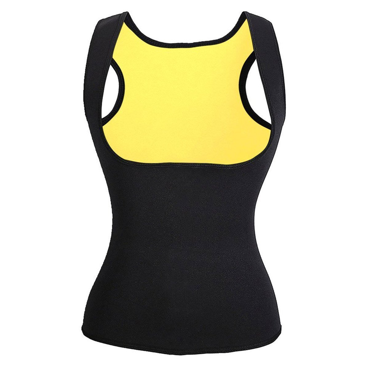 Movwin Womens Body Shaper Tank Top Hot Sweat Slimming Neoprene Shirt Vest Waist Cincher Girdle for Weight Loss No Zipper (3XL, Black)