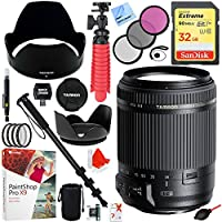 Tamron 18-200mm Di II VC All-In-One Zoom Lens for Canon Mount with 62mm Lens Filter Sets Plus 32GB Accessories Bundle