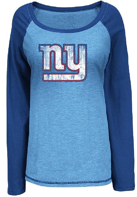 New York Giants Womens Sport Princess Long Sleeve NFL Shirt by VF (Large) bd6387480
