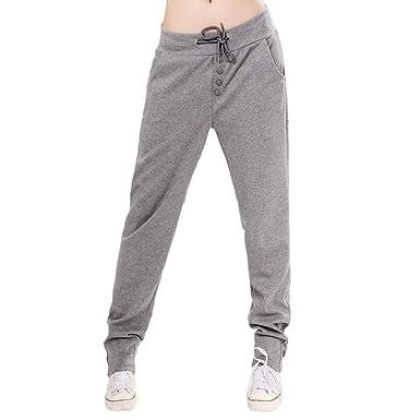 Pantalons Jogging Femme Printemps Automne Pantalons Elégante Mode Chic  Legging Sport Vintage Uni Manche Taille Haute ab5e8b695ac