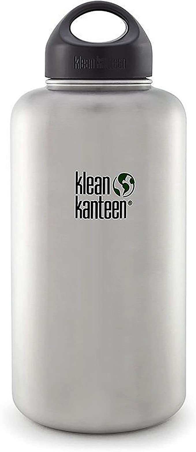 Klean Kanteen Wide Mouth Stainless Steel Water Bottle 64 Ounce Amazon Ca Sports Outdoors