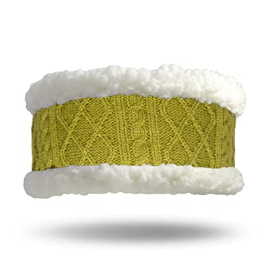 Image Unavailable. Image not available for. Color  Pudus cable knit green  adult one size cozy winter headband 197f5a81777c