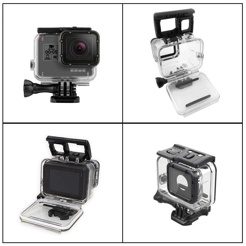 45M Incluye filtros de lentes rojos y magenta y puerta trasera compatible con pantalla t/áctil de reemplazo 5 Kit de carcasa protectora de buceo impermeable subacu/ática micros2u Gopro Hero 6