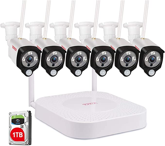 Tonton 8CH Wireless 1080P NVR Outdoor indoor WIFI Camera CCTV Security System HD