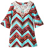 Tween Diva Little Girls' Chevron Printed Dress