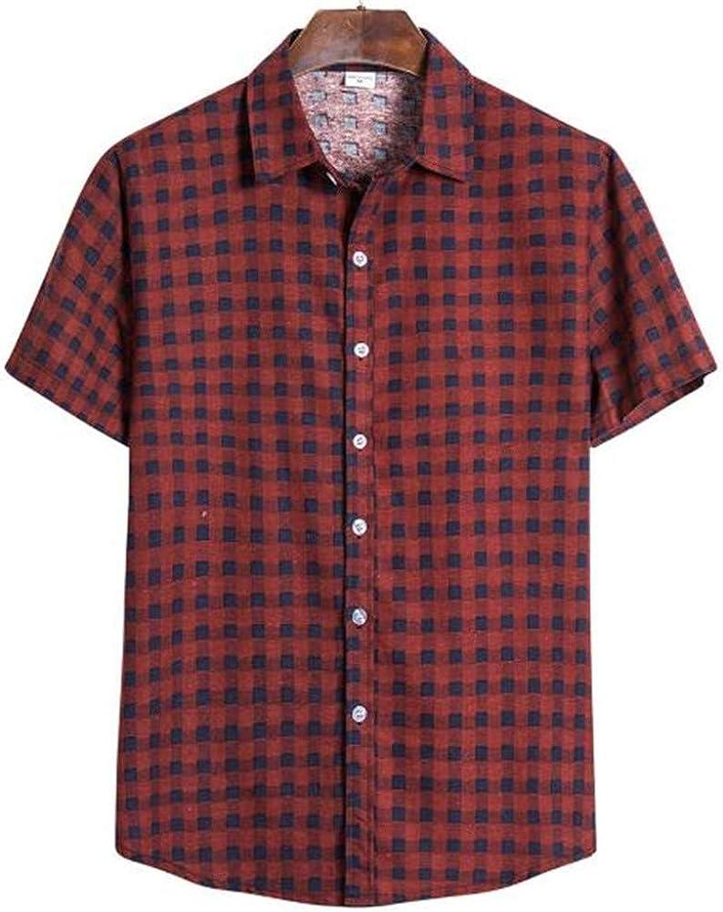 Camisa De Manga Corta para Hombre De Gran TamañO Solapa De ...