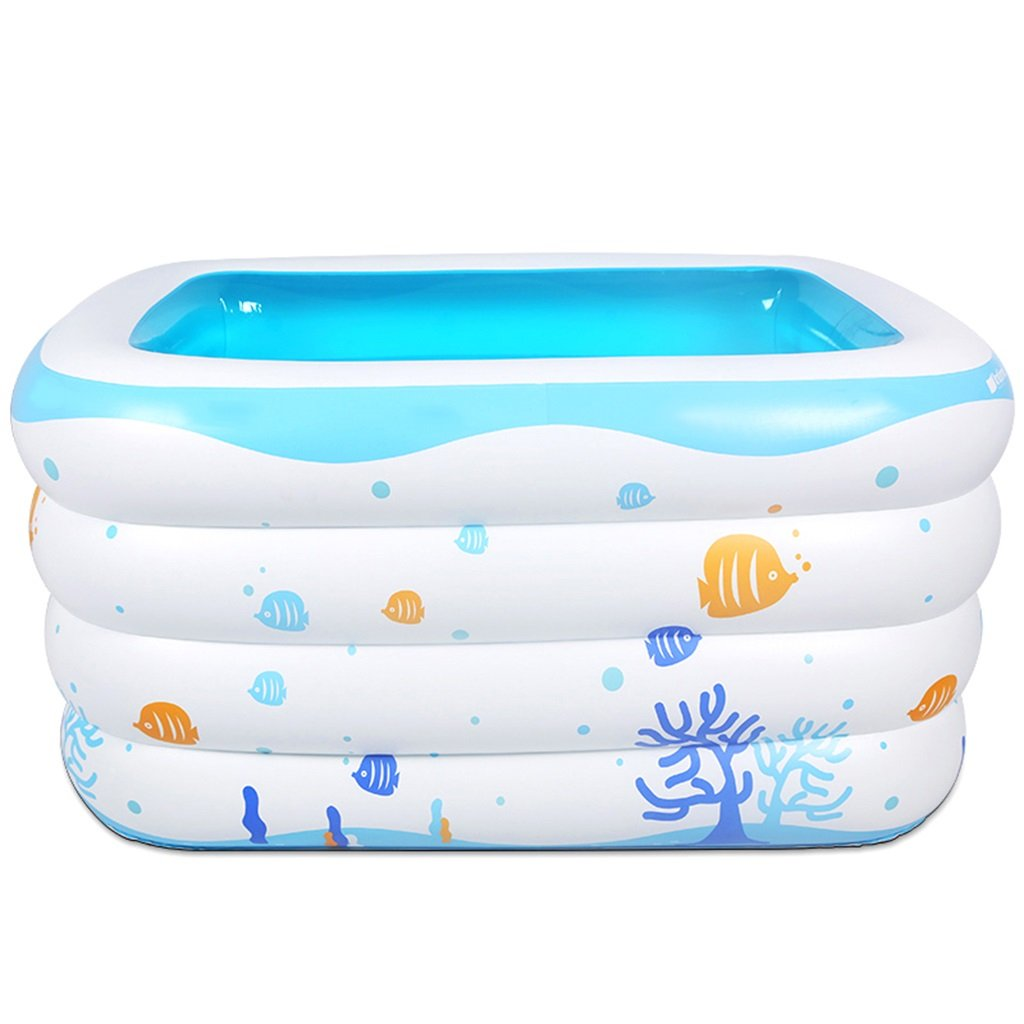 Bathtubs Freestanding Thicken Baby Swimming Pool Infant Child Large Inflatable Family Bath Bucket Children's Baby Thermal Bath (Size : 120cm(17.2 inches))