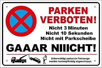 Tatmotive Ps01 Parkverbotsschild Lustig Schild Parken Verboten Inkl