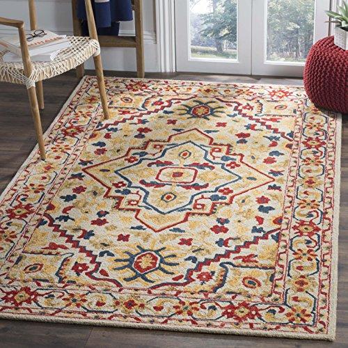 (Safavieh APN705A-8 Aspen Collection Area Rug, 8' x 10', Ivory/Multi)