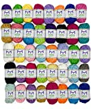 Basic Bonbons Yarn Set - Beginners Starter Kit that will suit Any Small Yarn Project or Craft! Great Color variety and Price.We recommend this Yarn Pack as great present for kids and crafts makers, or for multi-colored crochet and knitting pa...