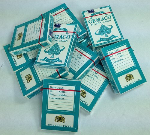 144 New Indian Colusa Casino Decks of Cards TEAL by Gemaco