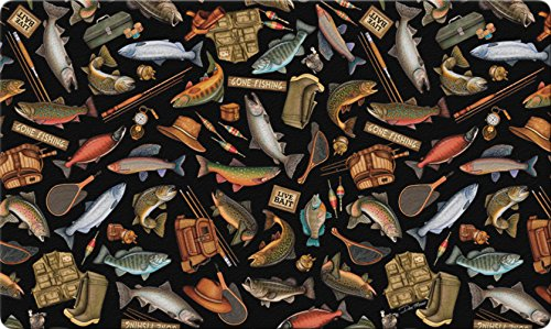 ngler A-Lure 18 x 30 Inch Decorative Floor Mat Fish Lure Rod Sport Collage Doormat (Fish House Doors)