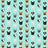 showing french bulldog - Frenchie Fabric French Bulldogs French Bulldog Mint Sweet Dog Puppy Puppies Dog Lovers Frenchie Owners Crafts - by Petfriendly Printed on Fleece Fabric by the Yard by Spoonflower