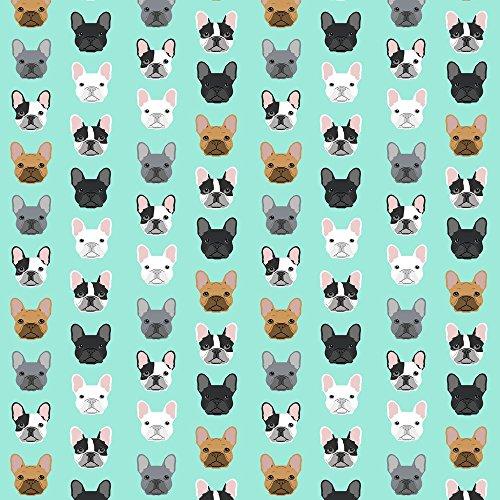 french bulldog fleece fabric - 2