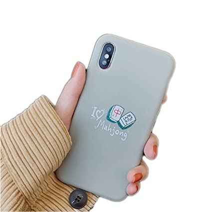 Amazon.com: Cartoon Cute Chinese Mahjong TPU Soft Phone Case ...
