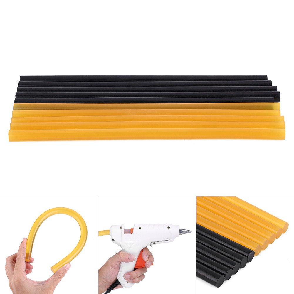 Keenso 10PCS stick di colla a caldo Paintless Dent strumenti di riparazione per auto ammaccature riparazione attrezzi 11/MM270/MM/ /5/confezioni nero /& 5/pezzi giallo